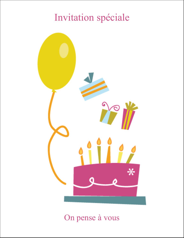 """2"""" x 3½"""" Cartes Pour Le Bureau - Fête d'anniversaire"""