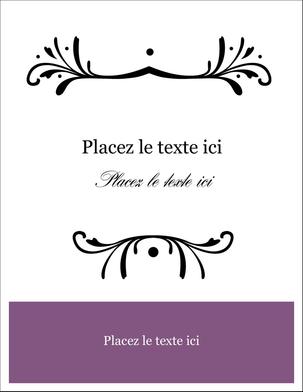 """2"""" x 3½"""" Cartes Pour Le Bureau - Filigrane violet"""