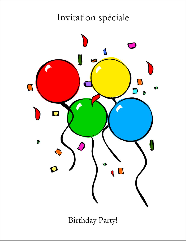 "4¼"" x 5½"" Carte de note - Quatre ballons"