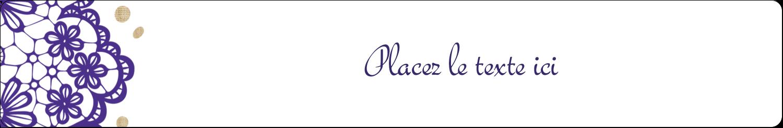 Mariage en dentelle violette Étiquettes Thermiques - gabarit prédéfini. <br/>Utilisez notre logiciel Avery Design & Print Online pour personnaliser facilement la conception.
