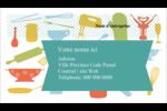 Articles de cuisine Cartes Pour Le Bureau - gabarit prédéfini. <br/>Utilisez notre logiciel Avery Design & Print Online pour personnaliser facilement la conception.
