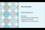 Cercles urbains bleus Cartes Pour Le Bureau - gabarit prédéfini. <br/>Utilisez notre logiciel Avery Design & Print Online pour personnaliser facilement la conception.