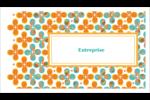 Motif fleuri Cartes Pour Le Bureau - gabarit prédéfini. <br/>Utilisez notre logiciel Avery Design & Print Online pour personnaliser facilement la conception.