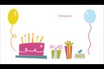 Fête d'anniversaire Cartes Pour Le Bureau - gabarit prédéfini. <br/>Utilisez notre logiciel Avery Design & Print Online pour personnaliser facilement la conception.