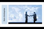 Poignée de main professionnelle Cartes Pour Le Bureau - gabarit prédéfini. <br/>Utilisez notre logiciel Avery Design & Print Online pour personnaliser facilement la conception.
