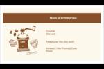 Café classique Cartes Pour Le Bureau - gabarit prédéfini. <br/>Utilisez notre logiciel Avery Design & Print Online pour personnaliser facilement la conception.