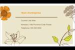 Illustrations florales Cartes Pour Le Bureau - gabarit prédéfini. <br/>Utilisez notre logiciel Avery Design & Print Online pour personnaliser facilement la conception.