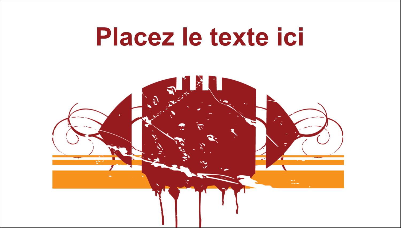 """2"""" x 3½"""" Carte d'affaire - Football débraillée"""