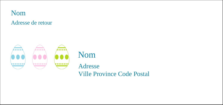 """4¼"""" x 2"""" Étiquettes Pour Copieurs - Trio d'œufs de Pâques"""