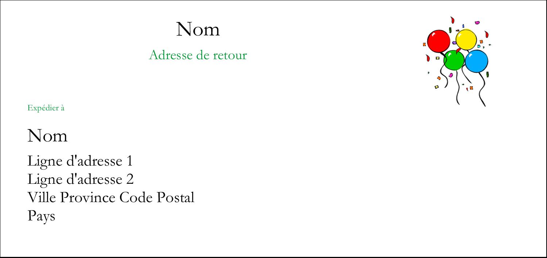 """4¼"""" x 2"""" Étiquettes Pour Copieurs - Quatre ballons"""
