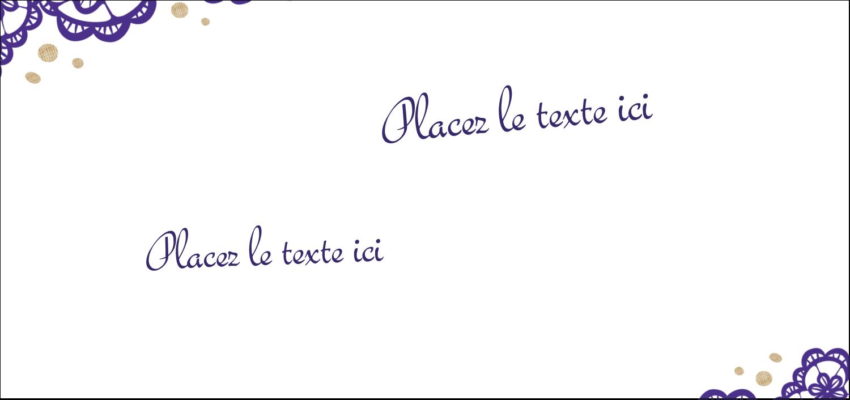 """2-13/16"""" x 1½"""" Étiquettes Pour Copieurs - Mariage en dentelle violette"""