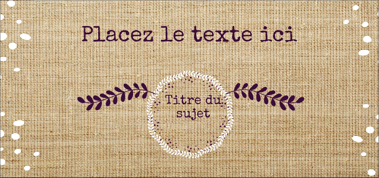 """2-13/16"""" x 1½"""" Étiquettes Pour Copieurs - Toile à frange"""