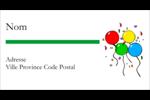Quatre ballons Étiquettes Pour Copieurs - gabarit prédéfini. <br/>Utilisez notre logiciel Avery Design & Print Online pour personnaliser facilement la conception.