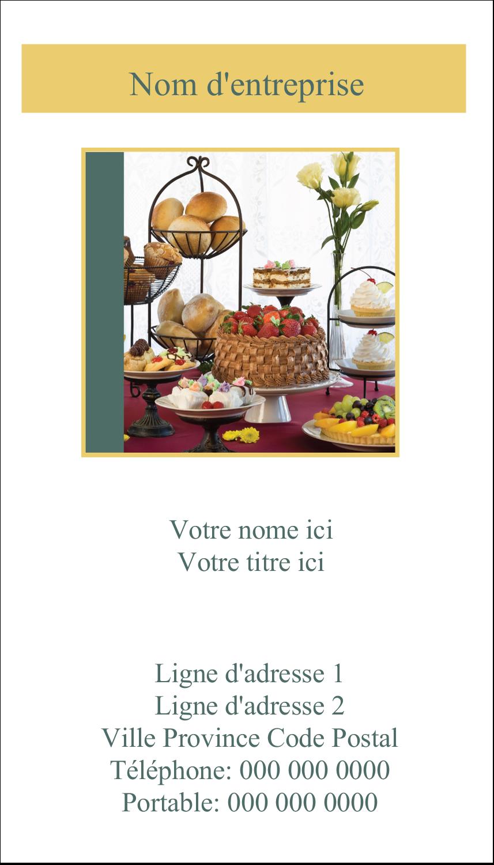 """4¼"""" x 5½"""" Carte de note - Pain et dessert"""