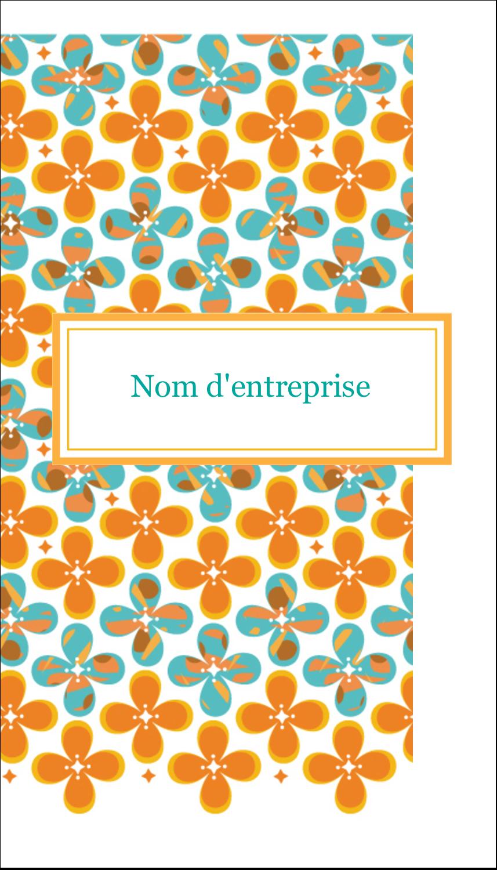 "4¼"" x 5½"" Carte de note - Motif fleuri"