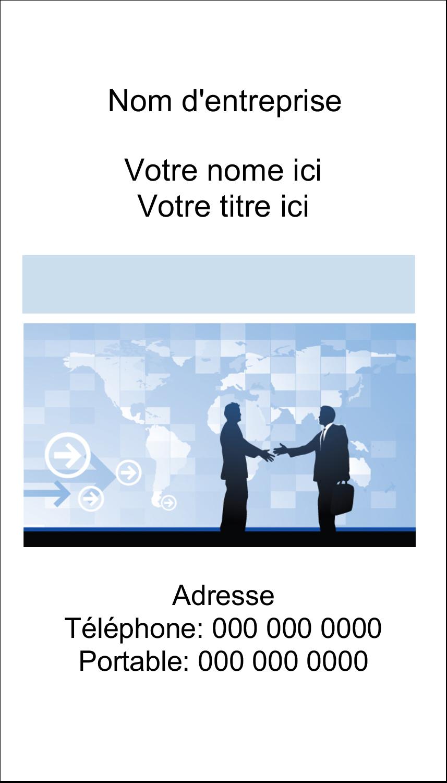 """2"""" x 3½"""" Carte d'affaire - Poignée de main professionnelle"""