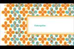 Motif fleuri Carte d'affaire - gabarit prédéfini. <br/>Utilisez notre logiciel Avery Design & Print Online pour personnaliser facilement la conception.