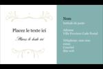 Filigrane vert Carte d'affaire - gabarit prédéfini. <br/>Utilisez notre logiciel Avery Design & Print Online pour personnaliser facilement la conception.