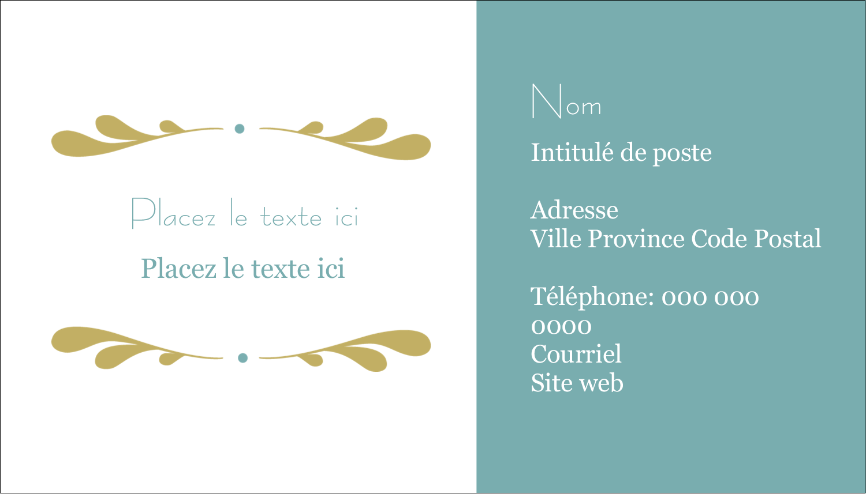 "2"" x 3½"" Carte d'affaire - Filigrane"