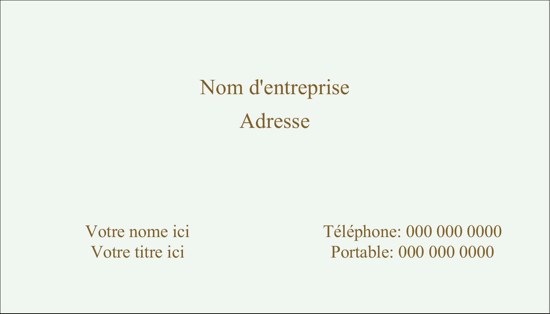 """2"""" x 3½"""" Carte d'affaire - Feuillage pastel"""