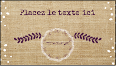 "2"" x 3½"" Carte d'affaire - Toile à frange"