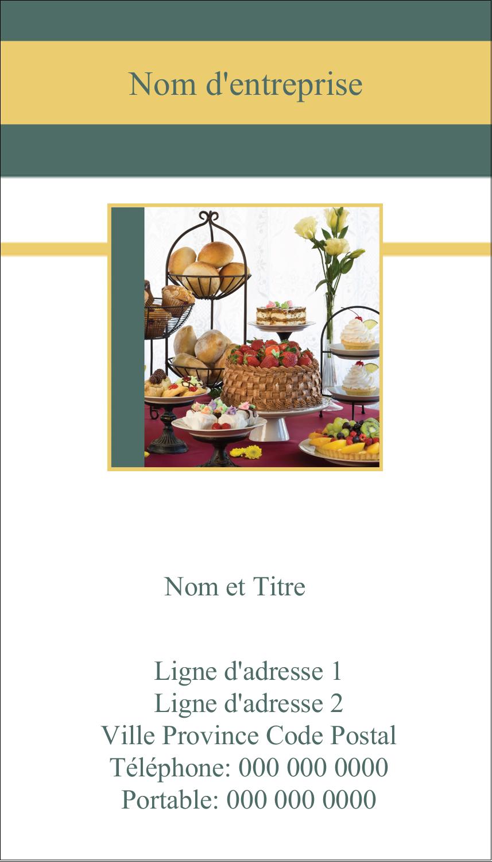 """5½"""" x 4-1/4"""" Carte de voeux - Pain et dessert"""