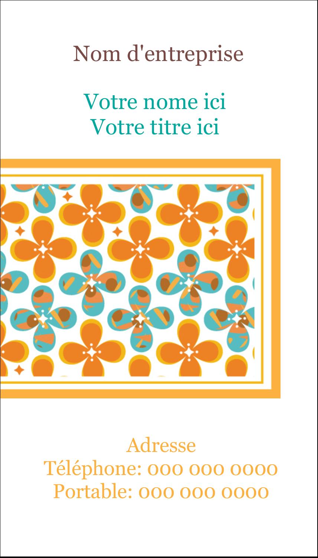 """5½"""" x 4-1/4"""" Carte de voeux - Motif fleuri"""