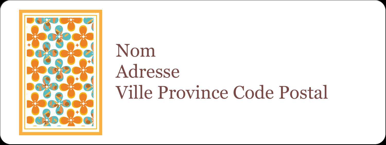 """1½"""" x 4"""" Étiquettes D'Adresse - Motif fleuri"""