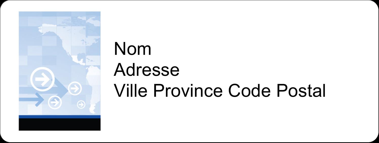 """1½"""" x 4"""" Étiquettes D'Adresse - Poignée de main professionnelle"""
