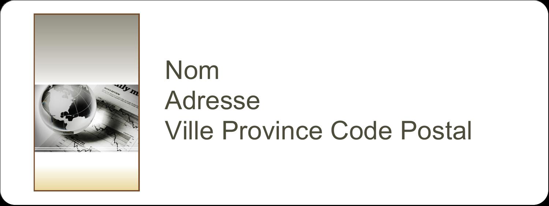 """1½"""" x 4"""" Étiquettes D'Adresse - Rapport financier"""