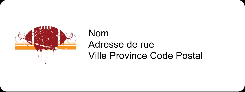 "⅔"" x 1¾"" Étiquettes D'Adresse - Football débraillée"