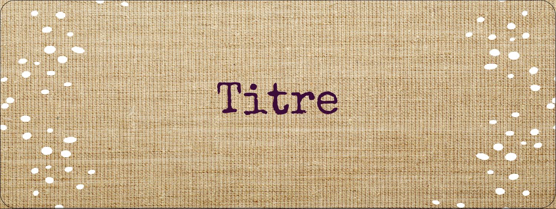 """1½"""" x 4"""" Étiquettes D'Adresse - Toile à frange"""