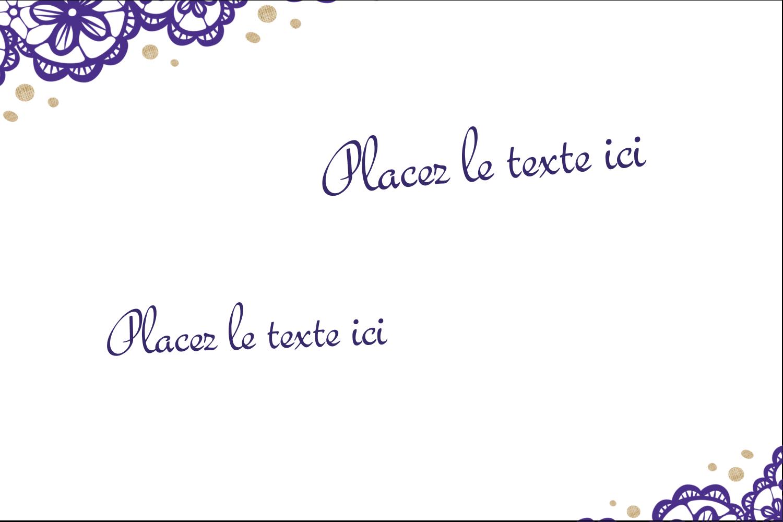 """4"""" x 2"""" Étiquettes Polyvalentes - Mariage en dentelle violette"""