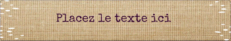 """5½"""" x 8½"""" Reliures - Toile à frange"""