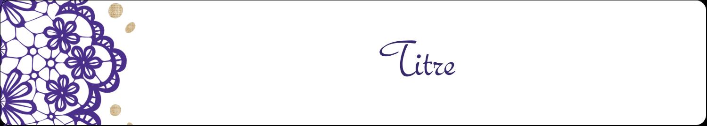 """5½"""" x 8½"""" Reliures - Mariage en dentelle violette"""