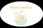 Panier de lapin Étiquettes ovales - gabarit prédéfini. <br/>Utilisez notre logiciel Avery Design & Print Online pour personnaliser facilement la conception.