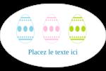 Trio d'œufs de Pâques Étiquettes ovales - gabarit prédéfini. <br/>Utilisez notre logiciel Avery Design & Print Online pour personnaliser facilement la conception.