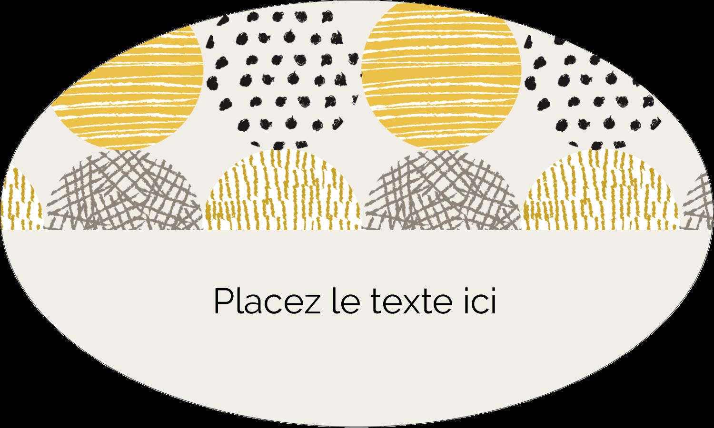 """1½"""" x 1½"""" Étiquettes carrées - Cercles urbains jaunes"""