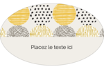 Cercles urbains jaunes Étiquettes carrées - gabarit prédéfini. <br/>Utilisez notre logiciel Avery Design & Print Online pour personnaliser facilement la conception.