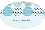 Cercles urbains bleus Étiquettes carrées - gabarit prédéfini. <br/>Utilisez notre logiciel Avery Design & Print Online pour personnaliser facilement la conception.