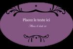 Filigrane violet Étiquettes carrées - gabarit prédéfini. <br/>Utilisez notre logiciel Avery Design & Print Online pour personnaliser facilement la conception.