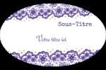 Mariage en dentelle violette Étiquettes carrées - gabarit prédéfini. <br/>Utilisez notre logiciel Avery Design & Print Online pour personnaliser facilement la conception.