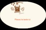 Café classique Étiquettes carrées - gabarit prédéfini. <br/>Utilisez notre logiciel Avery Design & Print Online pour personnaliser facilement la conception.