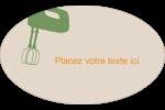 Ustensiles de cuisine Étiquettes carrées - gabarit prédéfini. <br/>Utilisez notre logiciel Avery Design & Print Online pour personnaliser facilement la conception.