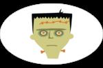 Frankenstein et la mariée Étiquettes ovales - gabarit prédéfini. <br/>Utilisez notre logiciel Avery Design & Print Online pour personnaliser facilement la conception.