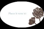 Silhouette de fleur Étiquettes carrées - gabarit prédéfini. <br/>Utilisez notre logiciel Avery Design & Print Online pour personnaliser facilement la conception.