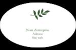 Rameau d'olivier simple Étiquettes carrées - gabarit prédéfini. <br/>Utilisez notre logiciel Avery Design & Print Online pour personnaliser facilement la conception.