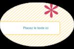 Lignes jaunes Étiquettes carrées - gabarit prédéfini. <br/>Utilisez notre logiciel Avery Design & Print Online pour personnaliser facilement la conception.