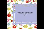 Fleurs printanières Étiquettes carrées - gabarit prédéfini. <br/>Utilisez notre logiciel Avery Design & Print Online pour personnaliser facilement la conception.