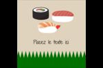 Sushis  Étiquettes carrées - gabarit prédéfini. <br/>Utilisez notre logiciel Avery Design & Print Online pour personnaliser facilement la conception.